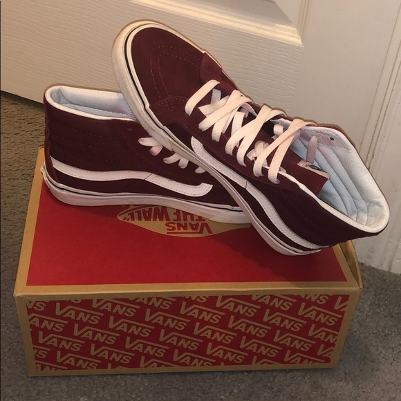 8273dc08a6 Vans SK8-Hi Slim - Windsor Wine. M 5c760b2c8ad2f9e8c7fa5378. Other Shoes ...